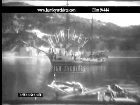 Villefranche Sur Mer early 1950's.  Archive film 94444