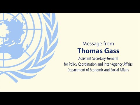 Mr. Thomas Gass - The Post-2015 Agenda and Human Rights