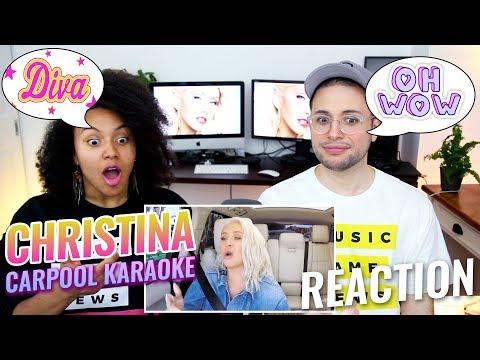 Christina Aguilera Carpool Karaoke | The Late Late Show with James Corden | REACTION