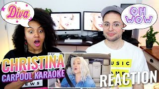 Christina Aguilera Carpool Karaoke | The Late Late Show with James Corden | REACTION