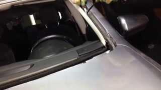 видео замена лобового стекла ниссан