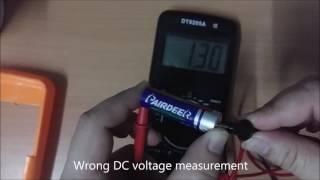 Cheap China DT9205M Digital Multimeter - Capacitance, Transistor (hFE), Resistance unstable