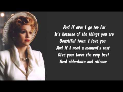 Madonna - Buenos Aires Karaoke / Instrumental with lyrics on screen