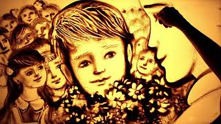 C 1 сентября песочное поздравление от Ксении Симоновои Sand Art Back To School By Simonova