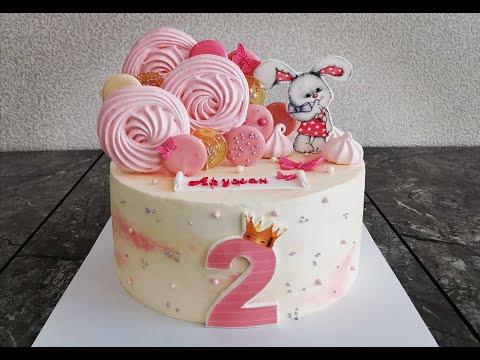 Тортик на годик дочке своими руками