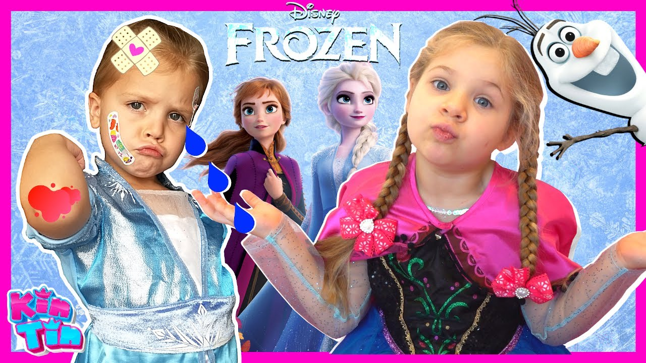 Kin Tin Frozen 2 Movie in Real Life | Elsa and Anna Pretend Play with Kids Diana Show