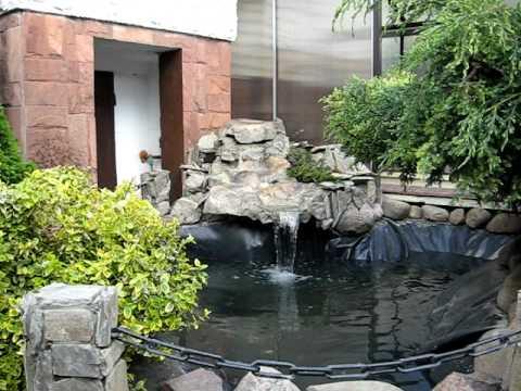 How to make a waterfall from fibreglass cool water for Fiberglass garden ponds