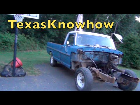 '67 Ford F100 Front end removal