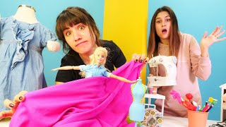 Barbie için gelinlik kim dikecek? Terzi Ayşe ve Ümit aynı dükkanı kiralıyor Kız oyunu