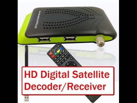 mini hd digital satellite receiver setup youtube. Black Bedroom Furniture Sets. Home Design Ideas