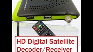 Mini HD Digital Satellite Receiver Setup