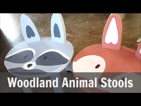 Make Children's Stools Resemble Animals