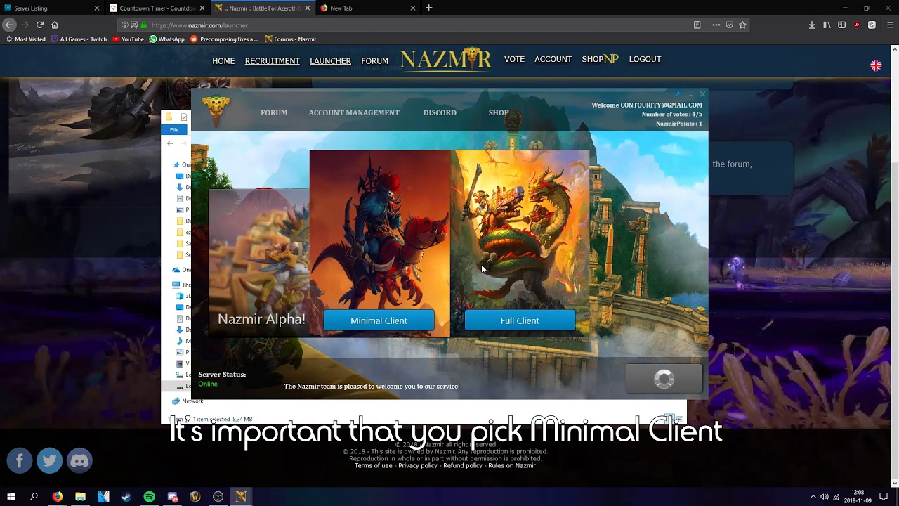 NO LONGER WORKS*** Launcher/Client Installation Guide