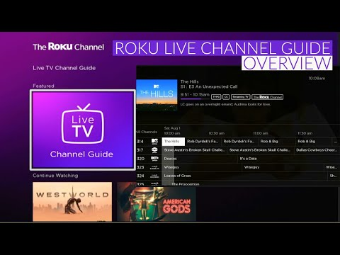 Live Television on the Roku Live TV Channel Guide - Overview