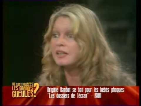 Brigitte Bardot extrait débat où elle défend les bébés phoques en 1980