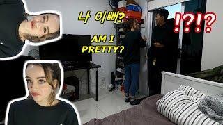[AMWF] MY korean BF's reaction to my terrible makeup   PRANK & REACTION   INTERNATIONAL COUPLE Video