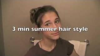 3 Minute Summer Updo Thumbnail