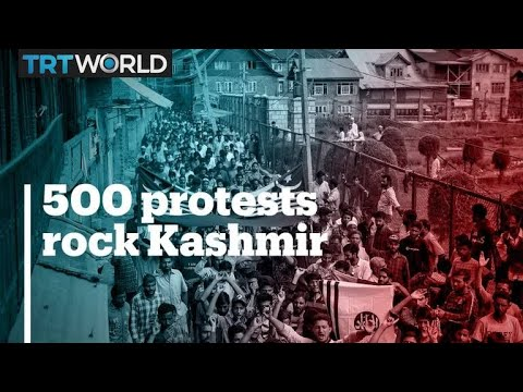Kashmir hit by 500 protests in 24 days of siege – report