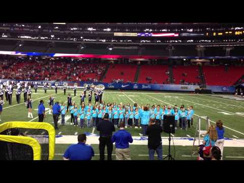 National Anthem sung by Canongate Elementary School GA State football game at GA Dome