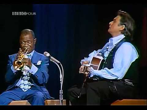 Johnny Cash & Louis Armstrong - Standing on the Corner (Blue Yodel No. 9)