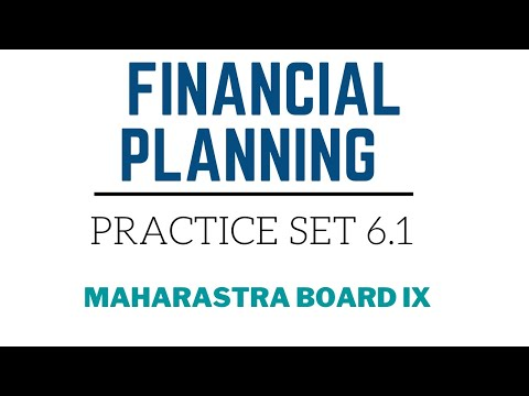 SSC Class 9 | Algebra | Financial Planning | Practice Set 6.1