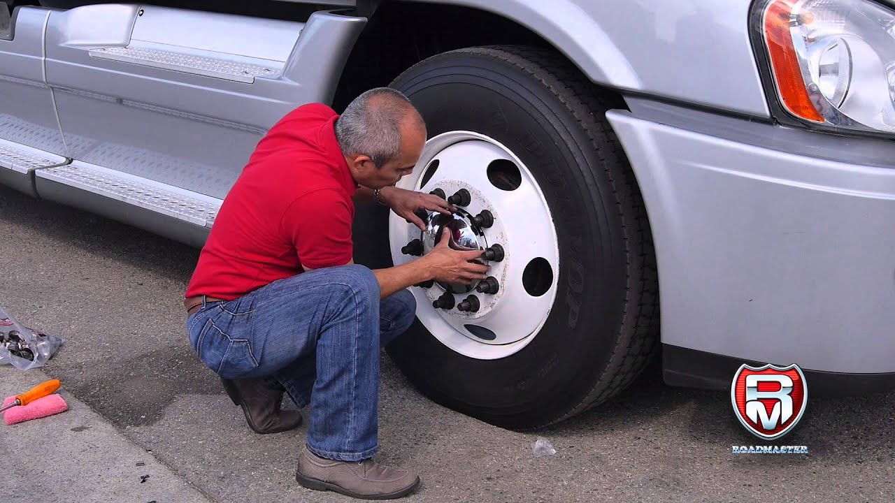 Semi Truck Hub Caps : How to install a front hub cap for steel wheel youtube