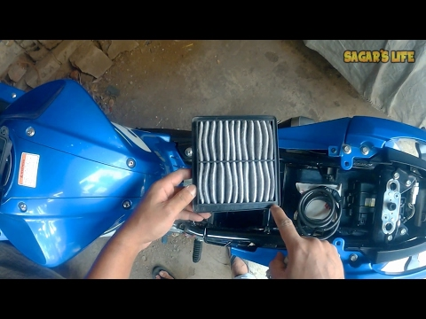 How To Clean Air Filter Of Gixxer 155 & SF For Better Performance