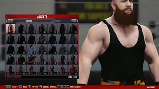 How to make braun strowman in wwe 2k16