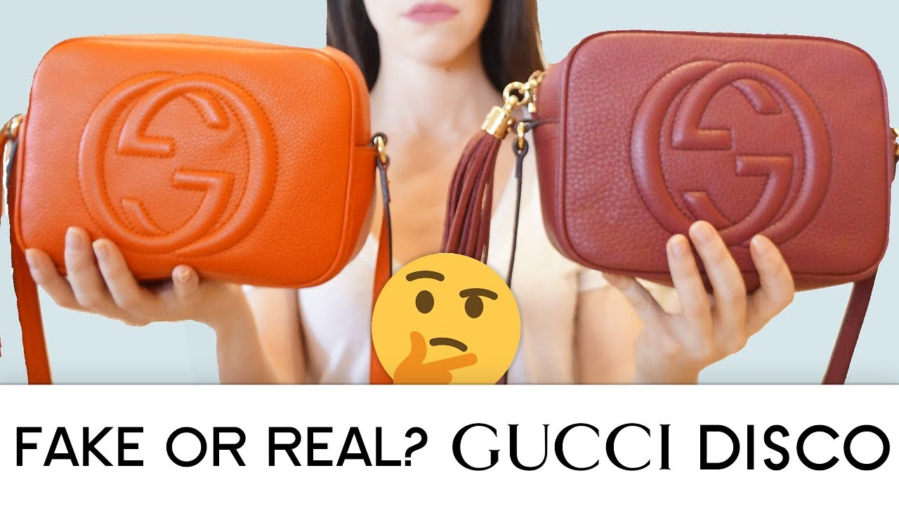 bc0878b62 FAKE OR REAL? Gucci Disco Bag Authentication - YouTube