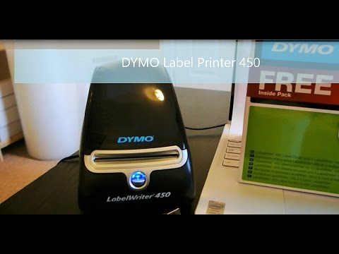 Dymo Label writer / printer 450 with Assorted Label Rolls x3 [ Review & Demo ]
