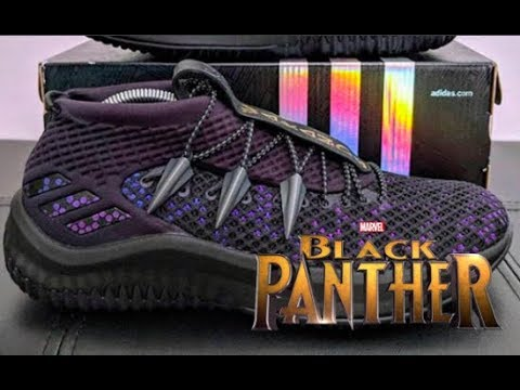 new concept 8a3a3 72d60 BLACK PANTHER CUSTOM Dame 4 SHOES!!! INSANE!!!