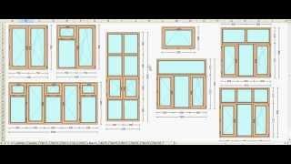 Компьютерная программа по расчету окон и дверей из ПВХ.(, 2013-04-15T07:03:43.000Z)