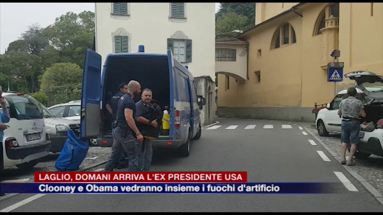 Etg - Laglio, domani arriva l'ex presidente degli Stati Uniti  Clooney e  Obama insieme