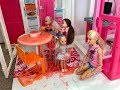 Barbie SLIME Disaster! Chelsea! Haley and Ally!