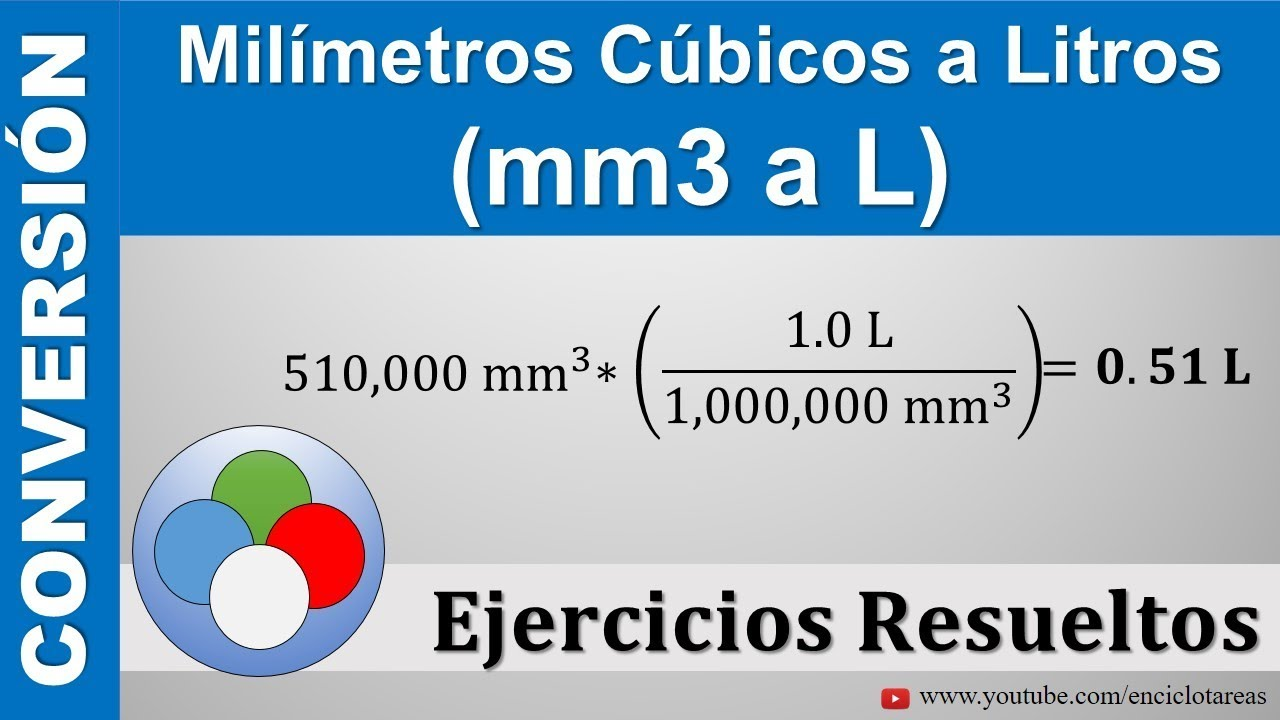 Milímetros Cúbicos A Litros Mm3 A L Youtube