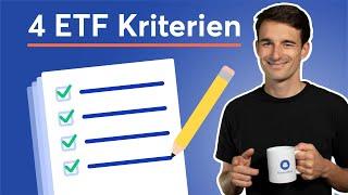 4 wichtige Kriterien bei der ETF-Auswahl: ETFs verstehen & vergleichen | Passiv Investieren #4