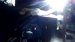 Sexy girl dancing on bar table.
