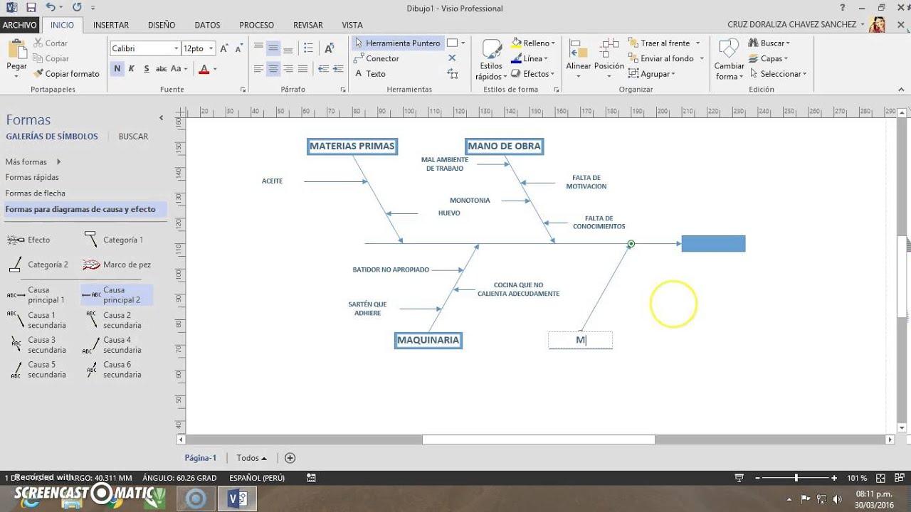 Visio: Diagrama de Causa y Efecto N°2  YouTube