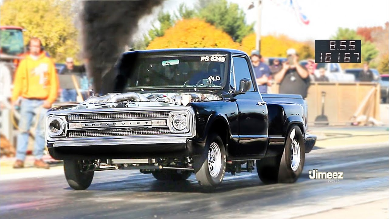 Fastest Diesel Truck >> World S Fastest Pro Street Duramax Diesel Triple Turbo Street Legal 8 55 161 67 Byron Dragway