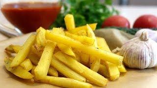 Картофель фри без капли масла в духовке