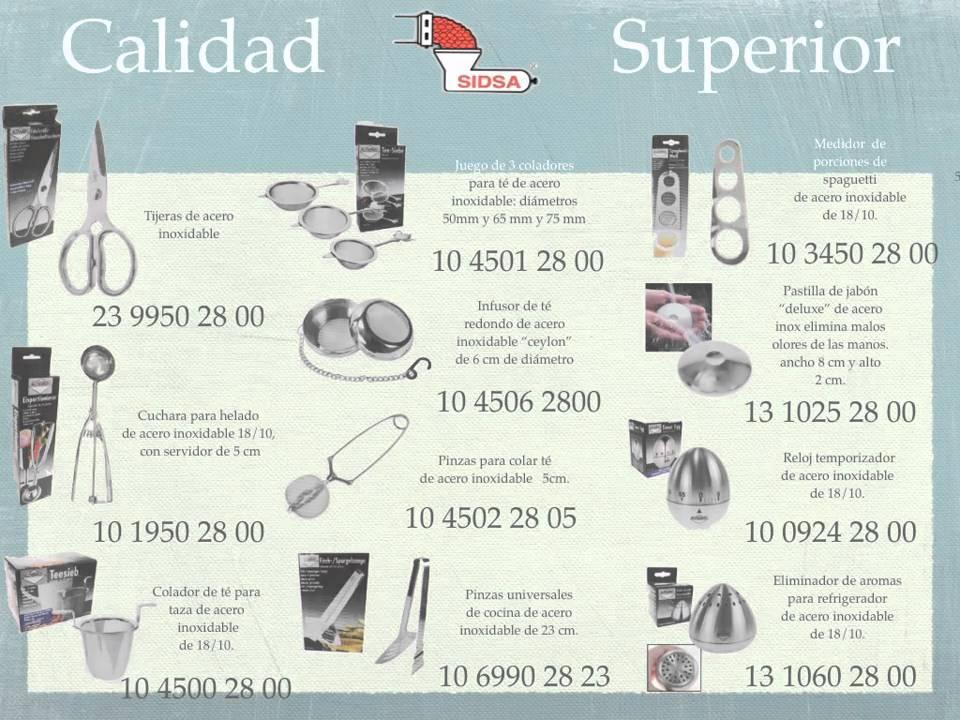 Catalogo de utensilios de cocina 1 youtube for Precios de articulos de cocina