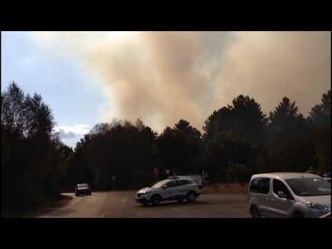 Las llamas, cerca del colegio Ben Cho Shey de Pereiro de Aguiar