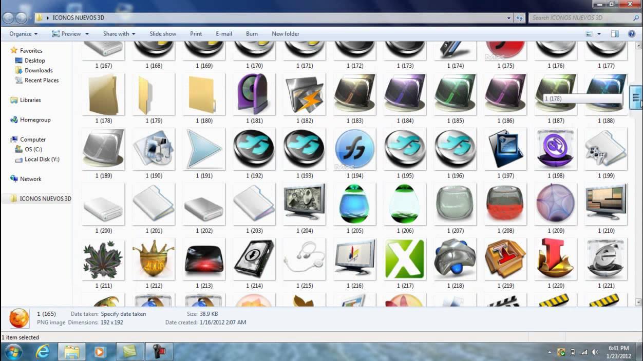 01320428f3982 Pack de 900 iconos 3D para windows 7 (loquendo) 2012 - YouTube