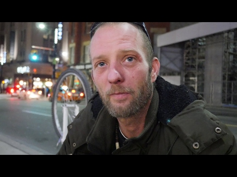 Michael is homeless in Toronto, Canada. He has walking pneumonia.