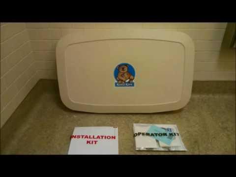 Koala Kare Baby Changing Station KB200 Installation