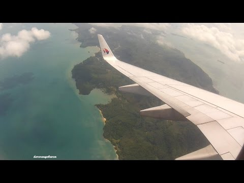 Welcome to Andaman Sea! Landing at Phuket Airport | Malaysia Airlines Boeing 737-8H6 9M-MXF