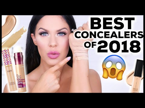 THE BEST CONCEALERS OF 2018!! YEARLY  BEAUTY FAVORITES!!