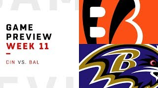 Cincinnati Bengals vs. Baltimore Ravens | Week 11 Game Preview | NFL Playbook