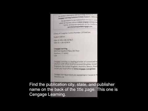 How to Cite a Book & Chapter in APA Style