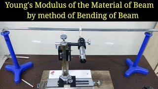 Young's modulus of the material of a beam by method of bending of beam